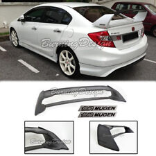 Rear Trunk Spoiler For 06-11 Honda Civic Sedan FD2 FA2 Mugen black emblem RR ABS
