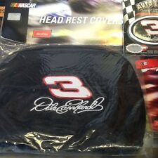 Dale Earnhardt head rest covers,pouch,emblem