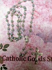 6 mm Blue/Grey Czech Glass beads  - Rosary