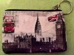 Purse/Wallet -LONDON THEME -Buy 2+ Items-Save 10%-Handy Size-Zip Top-Coins-Notes