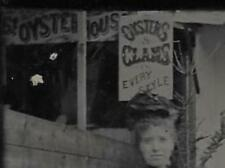 TINTYPE PHOTO #T94 RARE SANDY BEACH RESTAURANT OYSTERS & CLAMS EVERY STYLE SIGN