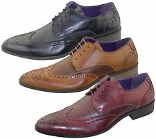 Mens Brogues Shoes Office Wedding Casual Formal Smart Dress Shoes New Size
