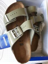 "New EU Size 39 Narrow / US 8-8.5 Leather Birkenstock ""Arizona"" in Khaki #1014176"