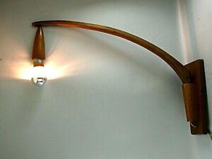 MID CENTURY VINTAGE MODERN DANISH DESIGN WALL LAMP SCONCE TEAK EAMES PANTON ERA