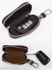 Natural Leather Smart Folding Key Brown Case Holder For Hyundai Santa Fe