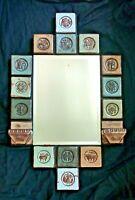 Mid Century Thyssen Keramik Denmark Zodiac Themed Tile Sconce Mirror