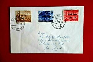 INDONESIA/ Irian Barat : Cover  Irian Barat Ovpt,NABIRE to PA/USA ('66)