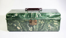Vintage Marbled Green Plano Molding Co Beachcomber Tackle Box