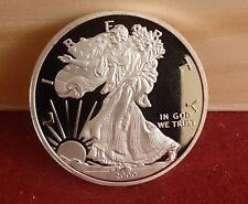 Monedas 1 oz de Plata de Dólar EE. UU. Libertad Americana águila año 2000 (R),.-