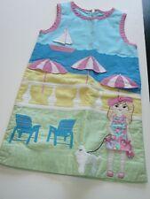 Rare Lilly Pulitzer Girl Size 4 Applique Beach Scene Dress Spring 2005 3D Scenes