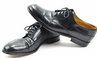 Johnston & Murphy CELLINI Black Oxfords Dress Shoes Made in Italy Mens Size 10.5