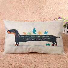Creative Dachshund Dog Pattern Cushion Cover Throw Pillow Case 30cm x 50cm