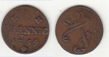 Cu 6 Pfennig 1759 Mecklenburg-Schwerin, Friedrich Kunzel 338 ca. 5,19 g