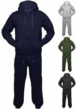 Mens Womens Unisex Plain Jogging Sports Hoodie Jacket Full Tracksuit Set
