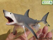 Collecta Squalo Bianco Plastica Solida giocattolo Wild Zoo Animale DEL MARE PESCE * NUOVO 💥