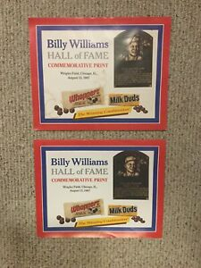 Lot Of 2 Chicago Cubs Billy Williams Hall of Fame Commemorative Print 8/13/1987