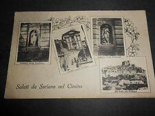 1928 CARTOLINA SALUTI DA SORIANO NEL CIMINO TRE VEDUTINE VIAGGIATA