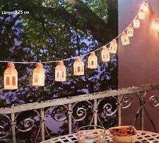 LED Lichterkette weisse Laternen NEU 16 Lichter für Aussen + Innen