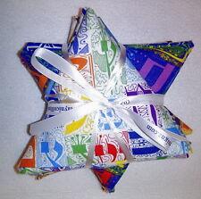 Jewish Judaica Fabric Fat Quarter Bundle - Hebrew Letters & Stars