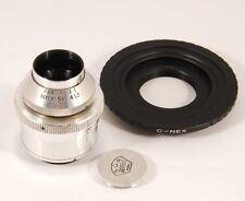 Ex+ France SOM BERIHIOT PARIS CINOR 35mm f/3.5 C mount w/ C-NEX adapter #70037