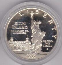 USA 1986 S Statua della Libertà ARGENTO PROOF DOLLAR in una capsula