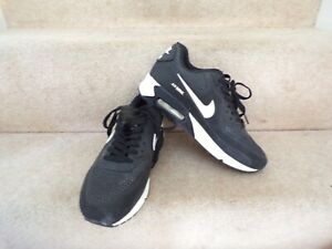 Nike Air Max Trainers SIZE 7.5 Shoes Black White Gym Casual Sports Running