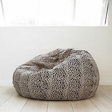 FUR BEANBAG LARGE Leopard Print Cloud Chair Soft Velvet Safari Bean Bag TV  Seat 7102d0125dd6e
