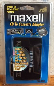 Maxell Cassette Adapter CD-330 NEW FREE SHIPPING Car Stereo CD Player