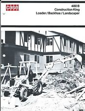 Equipment Brochure Case 480b Construction King Loader Et Al C1974 E3401