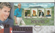 NEVIS 21 JUNE 2000 PRINCE WILLIAM 18th BIRTHDAY M/S BENHAM LE FIRST DAY COVER