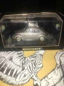 Minichamps EXTREMELY RARE VW Beetle Käfer 1200 1953 Silver Oval Window 1:43