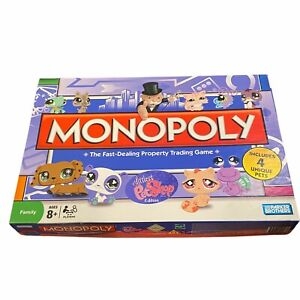 Parker Brothers Monopoly The Fast Dealing Property Trading 4 Unique Pets Game