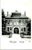 Vtg Postcard RPPC Tooele Utah - Tooele County Courthouse Building - Unused