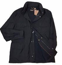 3,000$ Loro Piana Black Traveller Windmate Jacket Size XXXL, EU 58 Made in Italy