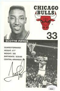 """Scottie Pippen Signed Auto Autographed 5.5x8.5"""" Photo Photograph JSA Certified B"""