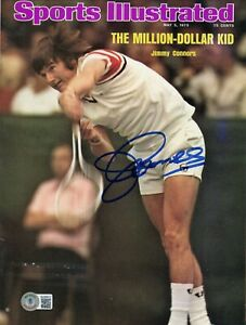 JIMMY CONNORS SPORTS ILLUSTRATED SIGNED AUTOGRAPHED BECKETT BAS