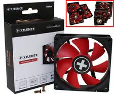 ? Xilence silent PC Computer Gehäuse Lüfter FAN leise RED WING 3 Pin + Molex