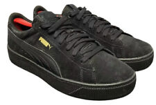 Puma Vikky Platform Shoes Casual Sneakers All Black Womens Size 8.5 Fast Ship!