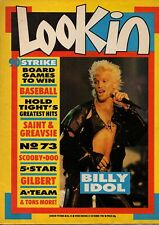 Look-In Magazine 31 October 1987     Billy Idol      Jimmy Greaves & Ian St John