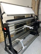 Fabric Rolling Machine With Lighted Inspecting Board