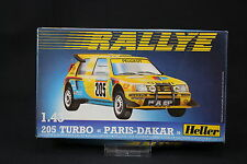 YS047 HELLER 1/43 maquette voiture 80189 Peugeot 205 Turbo Rallye Paris Dakar
