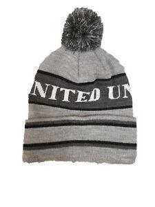 Manchester United Grey Bobble Hat