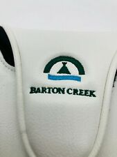 """Barton Creek Country Club White """"Austin"""" Members Magnet Mallet Putter Headcover"""