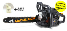 Petrol Chainsaw McCulloch CS 400T Silver Grade +2 FREE GIFTS-CHAIN OIL & BOTTLE