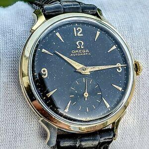 OMEGA Automatic Bumper Watch 17 Jewels Cal. 344 Swiss 14K GF Vintage 1952