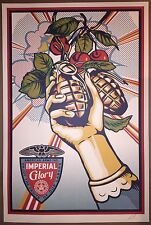 Shepard Fairey OBEY Imperial Glory Signed Print Roy Lichtenstein Poster Banksy
