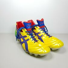 Mens Asics Lethal Flash DS 2 Football Soccer Yellow Red Green Boots Size 10.5
