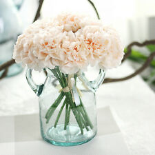 Artificial Silk Fake Flowers Peony Floral Wedding Bouquet Bridal Hydrangea C