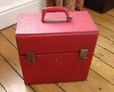 "RECORD STORAGE CASE 12"" (for LPs) red textured vinyl - dual catch with keys"