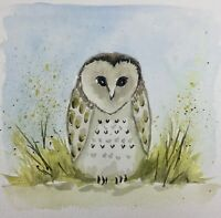 OWL PAINTING - SPRING SALE! 40% OFF ALL PRICES - MESSAGE ME TO GET NEW PRICE